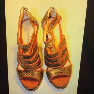 Alexandre Birman green sandals size 8